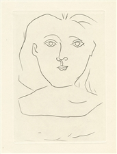 Pablo Picasso Jours de gloire drypoint burin etching