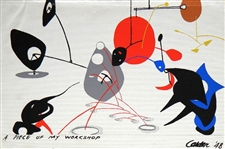 Alexander Calder silkscreen for the rare 1949 Mural Scrolls project