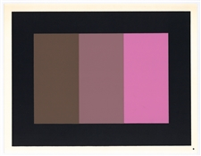 Josef Albers silkscreen | Interaction of Color, 1963