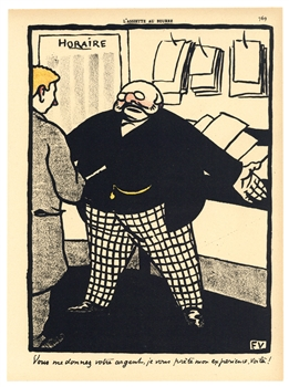 "Felix Vallotton original lithograph ""Crimes et Châtiments"""