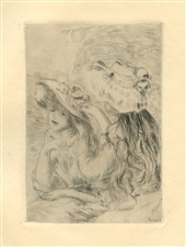 Pierre-Auguste Renoir Le chapeau epingle original etching