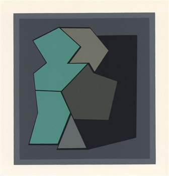 Victor Vasarely color silkscreen, 1959