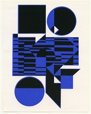 Victor Vasarely silkscreen Ob Hard Edge Art
