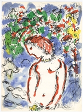 Marc Chagall Jour de printemps original lithograph Derriere