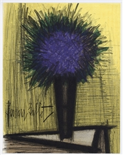 "Bernard Buffet original lithograph ""The Purple Bouquet of Flowers"""