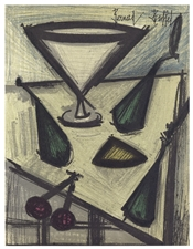"Bernard Buffet original lithograph ""Still Life with Fruit"""