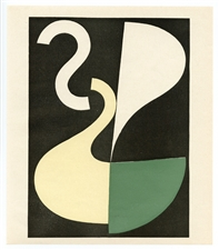 Sophie Taeuber-Arp color pochoir, 1949