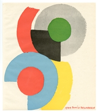 Sonia Delaunay color pochoir 1949