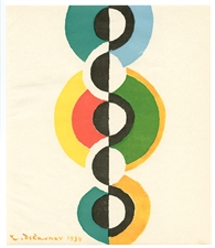 Robert Delaunay color pochoir 1949