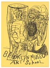 Max Beckmann lithograph for Improvisations | Artists Equity Ball