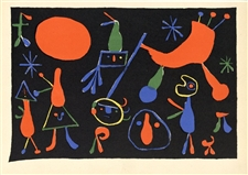Joan miro artwork miro lithographs prints pochoirs for Pochoir prints for sale