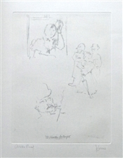 "Jack Levine signed original etching ""McHeath Betrayed"""