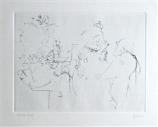 Jack Levine signed original etching