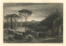 "Samuel Palmer ""Lycidas"" from the Shorter Poems of John Milton"