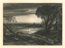 "Samuel Palmer ""The Curfew"" from the Shorter Poems of John Milton"