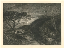 "Samuel Palmer ""The Lonely Tower"" from the Shorter Poems of John Milton"