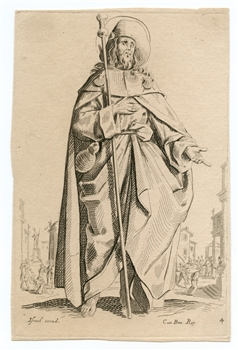 "Jacques Callot ""St James"" etching"