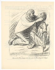 "Ernst Barlach ""Blessed are the Merciful"" original lithograph"