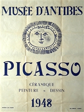 Pablo Picasso lithograph poster Musee d'Antibes Ceramique, Peinture, Dessin 1948