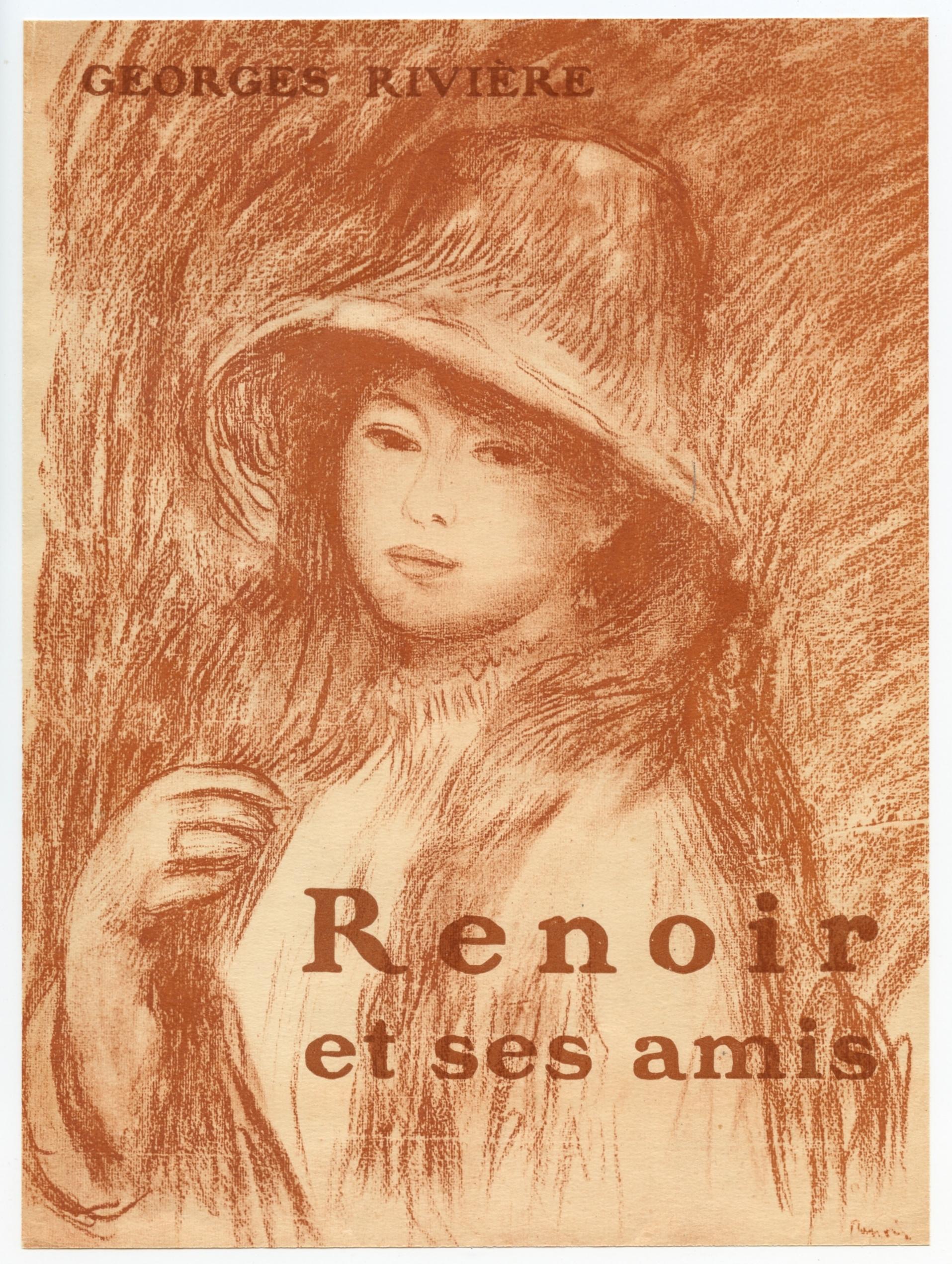 PierreAuguste Renoir lithograph Tete de Jeune Fille