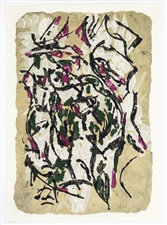 Jean-Paul Riopelle original lithograph, 1966, Derriere le Miroir