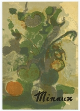 "Andre Minaux lithograph ""Nature morte"""