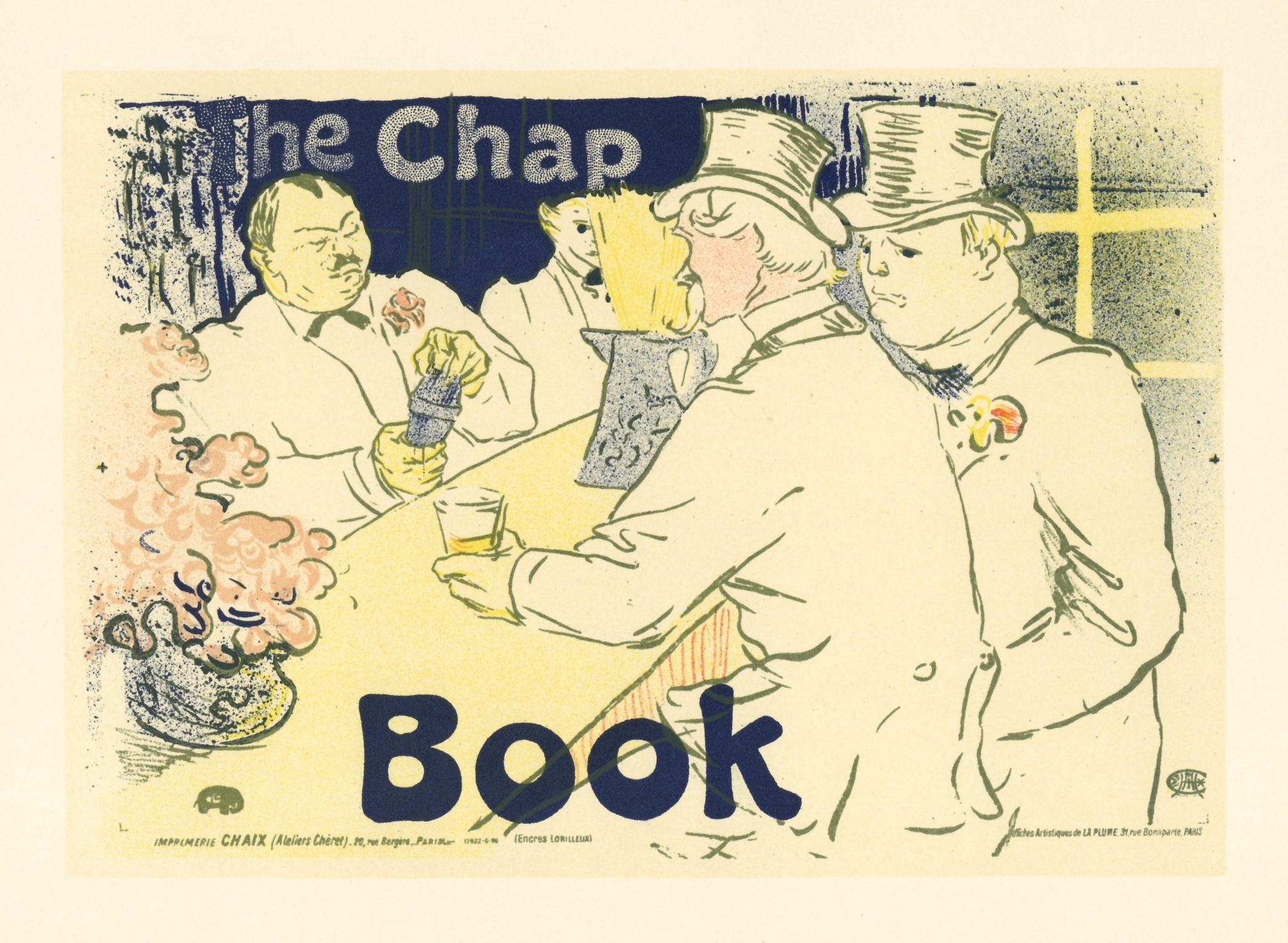 toulouse lautrec lithograph poster the chap book. Black Bedroom Furniture Sets. Home Design Ideas