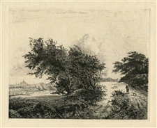 "Jacques Beurdeley | Jacob van Ruisdael etching ""Le buisson"""