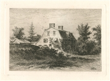 Edmund Henry Garrett original etching House Born