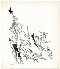 Yves Tanguy original lithograph, 1947