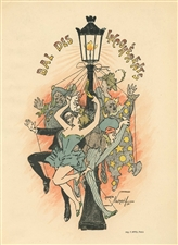 "Maurice Neumont lithograph poster ""Bal des Incoherents"""