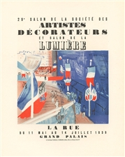 Raoul Dufy lithograph poster Salon des Artistes Decorateurs