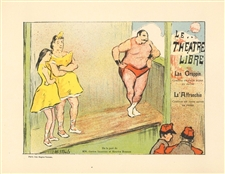 "Henry-Gabriel Ibels lithograph poster ""Le theatre Libre Grappin"""