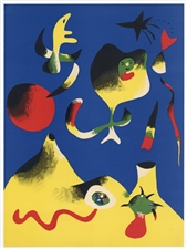 Joan Miro L'Air original lithograph, 1937