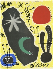 Joan Miro pochoir for XXe Siecle, 1956
