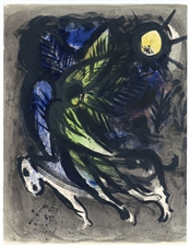 Marc Chagall original lithograph The Angel