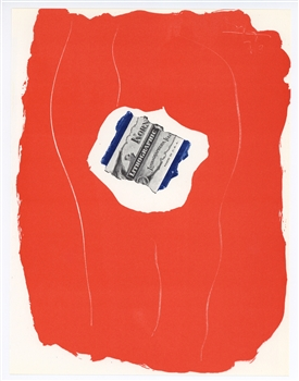 Robert Motherwell Tricolor original lithograph