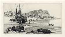 Stephen Parrish original etching Hastings