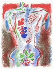 Andre Masson original lithograph (Figure)