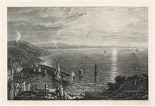 J. M. W. Turner engraving Torbay from Brixham Quay