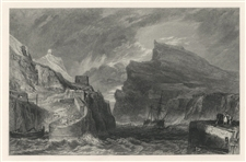 J. M. W. Turner engraving Boscastle