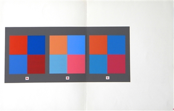 Josef Albers silkscreen Interaction of Color 1963