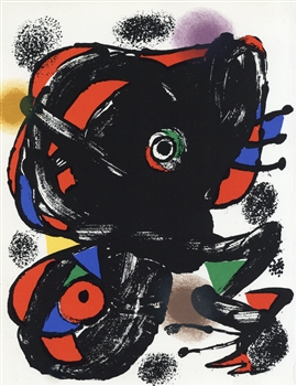 Joan Miro original lithograph, 1976