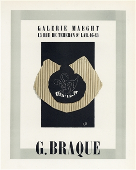 Georges Braque lithograph poster Mourlot