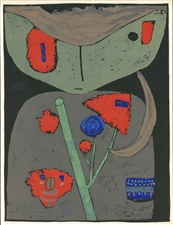 Paul Klee serigraph Figure of the Oriental Stage