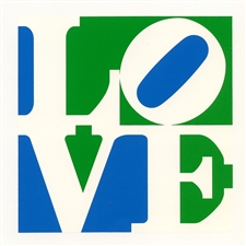 Robert Indiana LOVE silkscreen (Trilove)