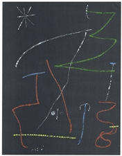 Joan Miro pochoir for XXe Siecle, 1958