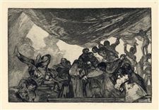 "Francisco Goya original etching ""Disparate Claro"""