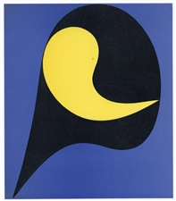 Jean Hans Arp color pochoir, 1949