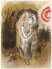 Marc Chagall lithograph Naomi and Her Daughters-In-Law